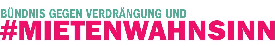 Logo des Berliner Bündnisses gegen Verdrängung und Mietenwahnsinn