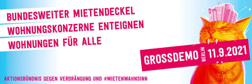 Demo-Banner mit Kampfkatzen-Motiv