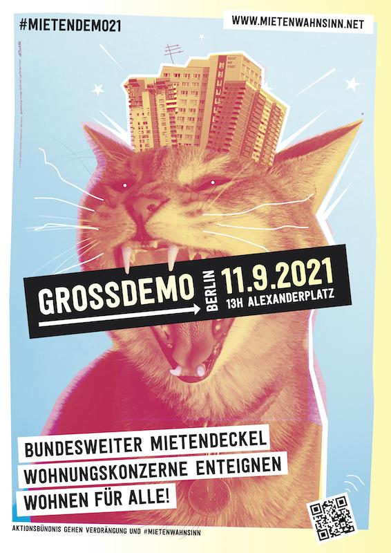 Plakat mit gelbem Rand als Druckvorlage